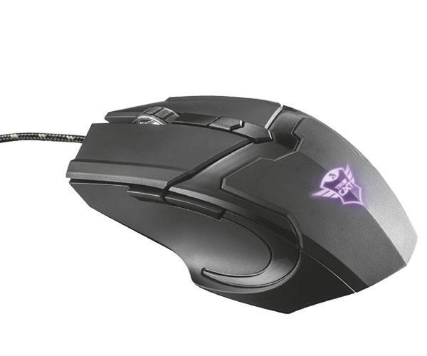 Raton Trust gaming gxt 101 gav negro - LED Rgb - 4800 dpi - 6 botones