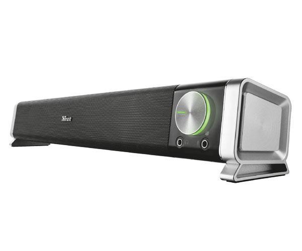 Altavoz soundbar Trust Asto - 12w - Conexion auricular y microfono - negro