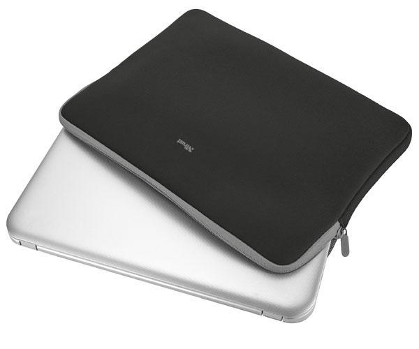 Funda Trust Primo Universal neopreno portatil - tablet - 13.3 Pulg. - Negro