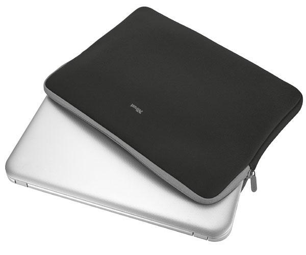 Funda Trust Primo Universal neopreno portatil - tablet - 11.6 Pulg. - Negro