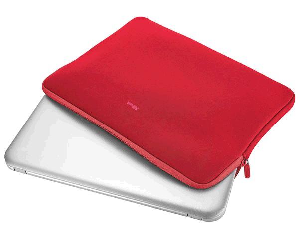 Funda Trust Primo Universal neopreno portatil - tablet - 11.6 Pulg. - Rojo