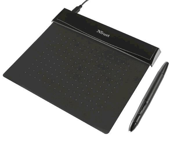 Tableta digitalizadora Trust flexible - Ultrafina - Lapiz inambrico optico incluido - 140x110mm