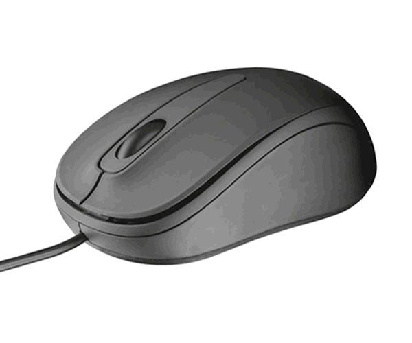 RATON USB TRUST COMPACT ZIVA NEGRO - 1000 DPI - AMBIDIESTRO