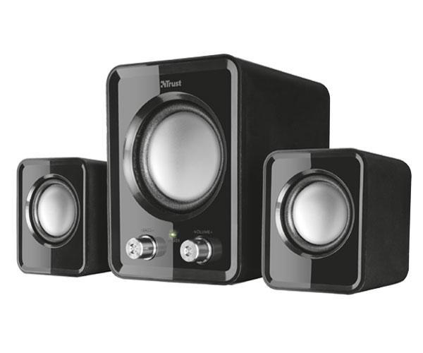 Altavoces Trust 2.1 ziva compact - 6w rms (12w maxima) - mando control volumen - bajos