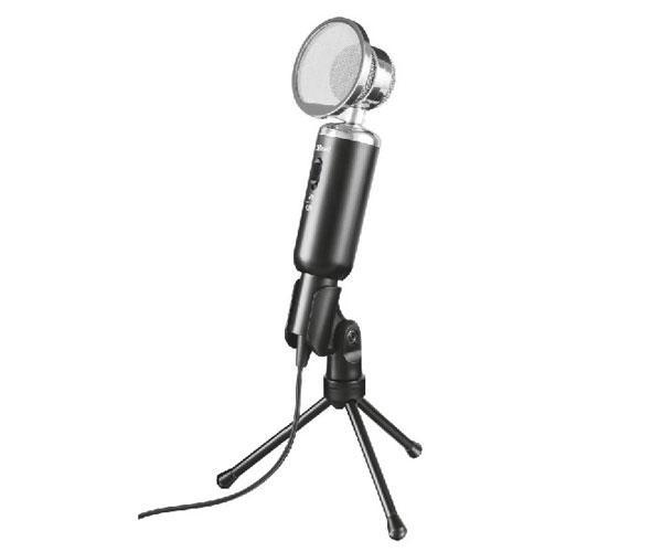 Microfono Trust Madell Desktop - Angulo ajustable - Jack 2.5 - 3.5mm - Rejilla desmontable