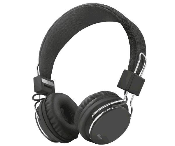 Auriculares Trust ziva negro - plegables - Jack 3.5mm - Microfono