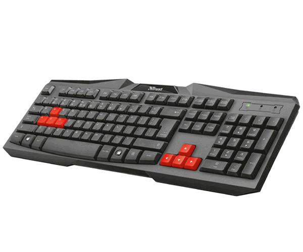 Teclado Trust gaming ziva pc - ps4 - Xbox one - teclas gaming - silencioso - cable 1.35m