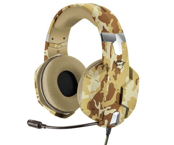 Auriculares Trust gaming gxt 322 Carus Desert Camo - sonido potente - pc - ps4 - Xbox one - Nintendo