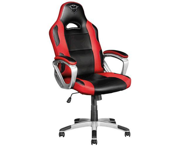 Silla trust Gaming Gxt 705 Ryon - Giratoria 360 - Asiento reclinable con bloqueo - 150kg - Negra-Roja