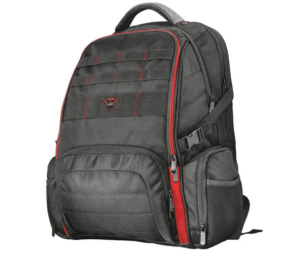 Mochila Trust gxT1250 hunter gaming backpack hasta 17.3p. - 9 compartimentos - hebilla pecho ajustable