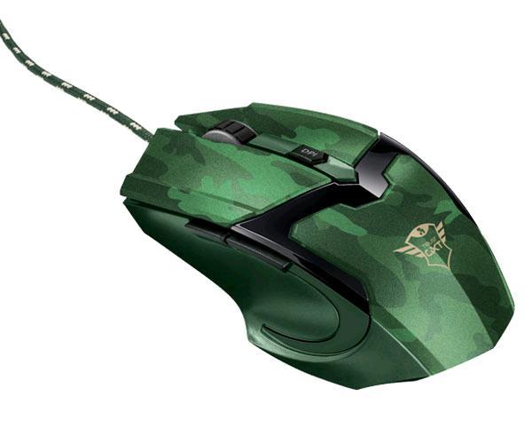 Raton Trust gaming gxt 101 Gav Jungle Camo - Led Rgb - 4800 dpi - 6 botones