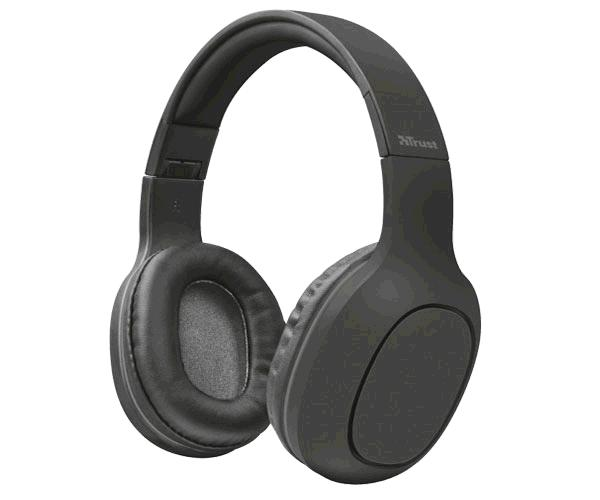 AURICULARES BLUETOOTH TRUST DONA - MP3 INTEGRADO MICROSD - 7 HORAS REPROD. - NEGROS