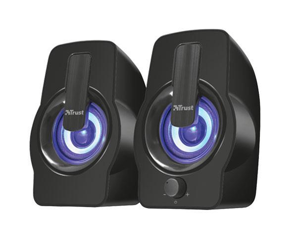 Altavoces Trust 2.0 gemi - iluminacion LED Rgb - 12w - USB - negro