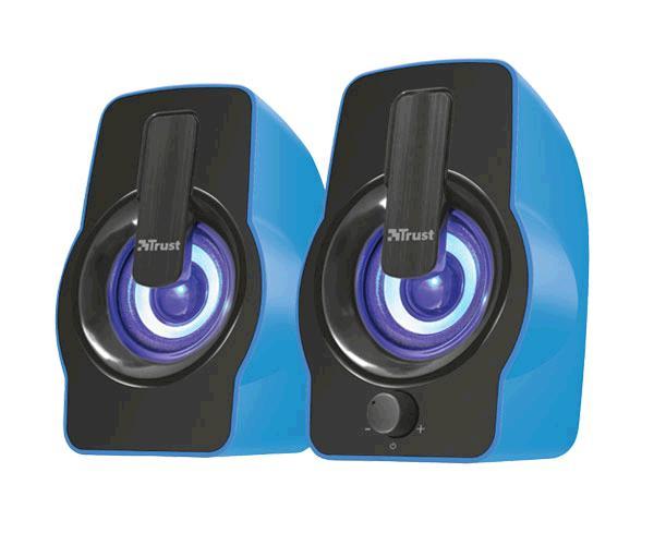 Altavoces Trust 2.0 gemi - iluminacion LED Rgb - 12w - USB - azul
