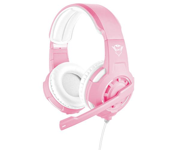 AURICULARES TRUST GAMING GXT 310P RADIUS ROSA - SONIDO POTENTE - PC - PS4 - XBOX ONE - NINTENDO