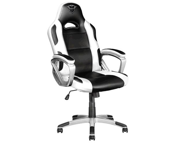 Silla trust Gaming Gxt 705 Ryon - Giratoria 360 - Asiento reclinable con bloqueo - 150kg - Negra-Blanca