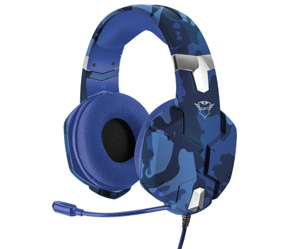Auriculares Trust gaming gxt 322 Carus Camo Blue - sonido potente - pc - ps4 - Xbox one - Nintendo
