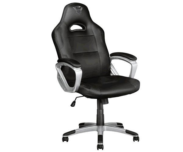Silla trust Gaming Gxt 705 Ryon - Giratoria 360 - Asiento reclinable con bloqueo - 150kg - Negra-Gris