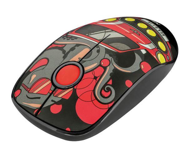Raton inalámbrico USB Trust Sketch Silent - 1600 Dpi - Sonido Reducido - Rojo