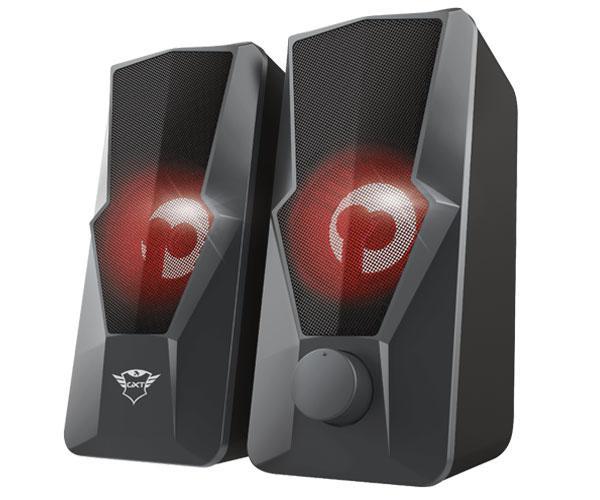 Altavoces Trust 2.0 Gaming Gxt 610 Argus - Iluminacion Led Rojo - Usb - 20w Rms - Negro