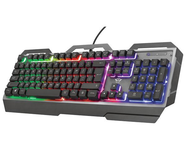 Teclado Trust gaming gxt 856 Torac - iluminacion LED - Metalico - 12 teclas multimedia - Anti-Ghosting