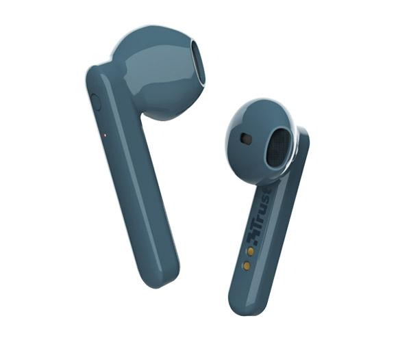 Auriculares Intrauditivos Trust Primo Touch Azul - Bluetooth - Tactil - Base recargable
