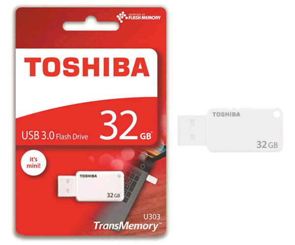 Pendrive Mini Toshiba 32Gb USB 3.0  u303 akatsuki blanco