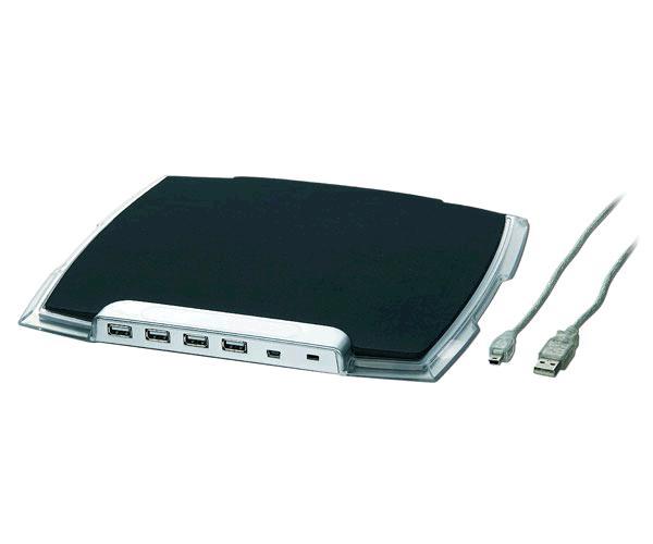 Alfombrilla con Hub USB 2.0 - 4 puertos - Gembird - Uhb-mp-224