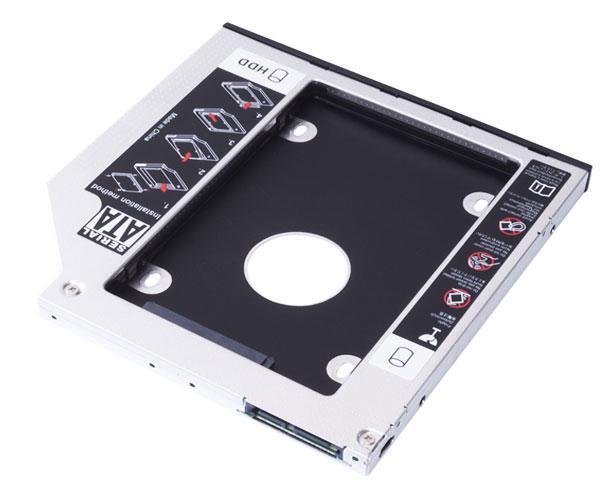 Adaptador aluminio HDD-SSD portatil de 9mm  Unyka