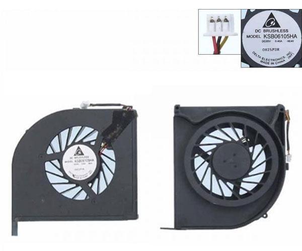 Ventilador portatil Hp Pavilion Dv6-2000 - Dv6-2100 - 579158-001 - Version 2