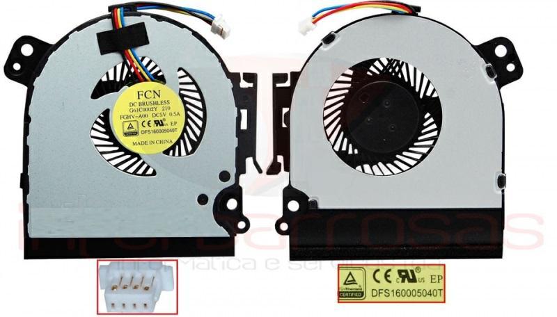 Ventilador Toshiba tecra C50 - Satellite Pro R50 - P000653330