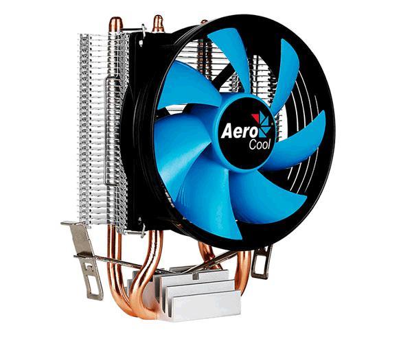 Ventilador Cpu Aerocool Verkho2 - Ventilador 90mm - 86 Laminas Aluminio - Amd - Intel - 110w - Pwm 4 pines