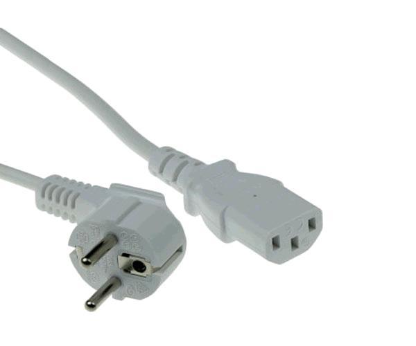 Cable alimentacion cpu a red schuko 1.8m  Gris