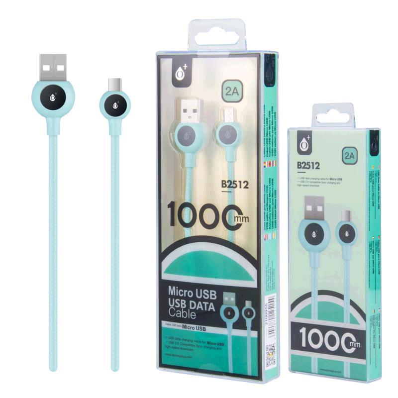 CABLE USB A MICRO USB BALL 1M AZUL B2512 ONE+