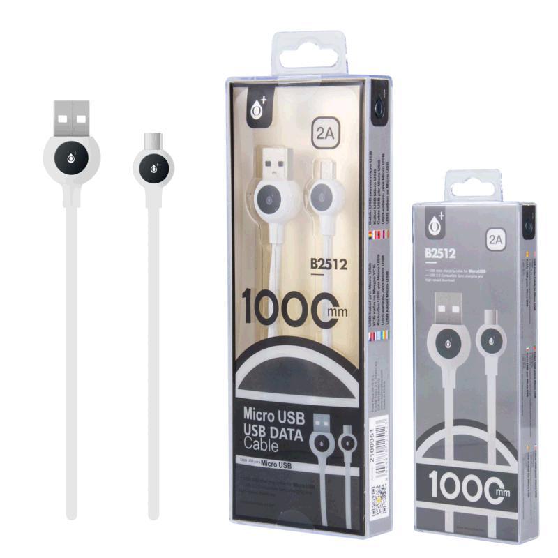 CABLE USB A MICRO USB BALL 1M BLANCO B2512 ONE+