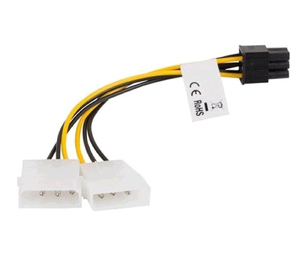 Cable alimentacion molex gráfica 2x5.25 a 6 pin pci-e Lanberg - Ca-hd6p-10cu-0015
