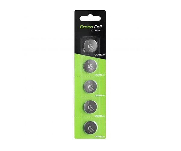 Pila boton litio cr2032 3v Greencell ( 5pcs)