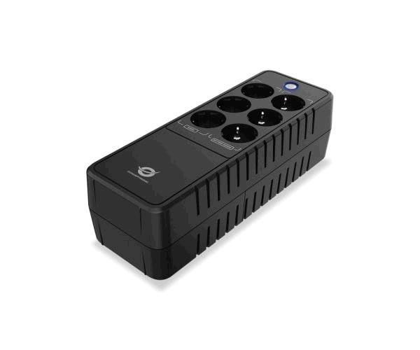 Sai Regleta Conceptronic Zeus 05e - 650va - 360w - 6 Tomas enchufe - Puerto lan modem
