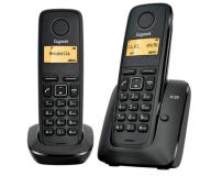 TELEFONO INALAMBRICO DECT GIGASET A120 PACK DUO NEGRO