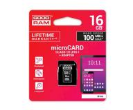 Micro sd hc goodram m1aa uhs-i / 16Gb / 100mb/s / clase 10  con adaptador