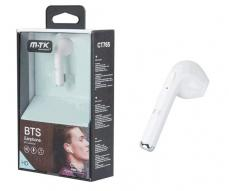 AURICULAR BLUETOOTH CT765 PEBBLE - VOZ HD BLANCO MTK