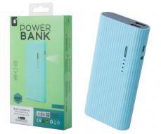 POWER BANK VALEN D2347 13000MAH 2XUSB 2.4A / LINTERNA / CELESTE ONE+