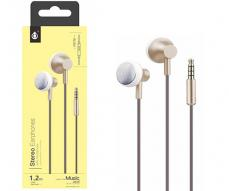 AURICULARES + MICRO METAL POCKY P5176 ORO ONE+