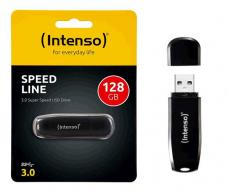 Pendrive Intenso speed line 128Gb USB 3.0 negro
