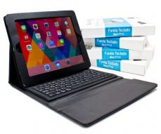 FUNDA TABLET CON TECLADO IPAD 1/2/3/4 BLUETOOTH NEGRA