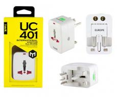 ENCHUFE INTERNACIONAL DE VIAJE HAVIT HV-UC401 BLANCO