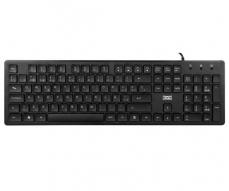TECLADO SLIM ALLIGATOR NEGRO / USB / 3GO