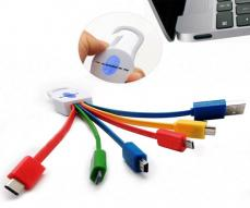 CABLE DE DATOS 6 EN 1 / USB 3.1 / TYPE-C / MICRO USB/ MINI USB /  KC61