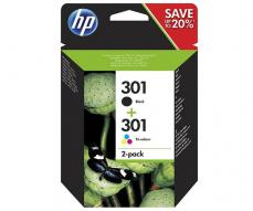 Inkjet orig. Hp pack n301 negro y color n9j72ae