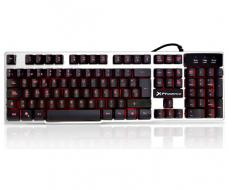 TECLADO GAMING USB PHOENIX FACTOR KEY-S / 3 COLORES LED